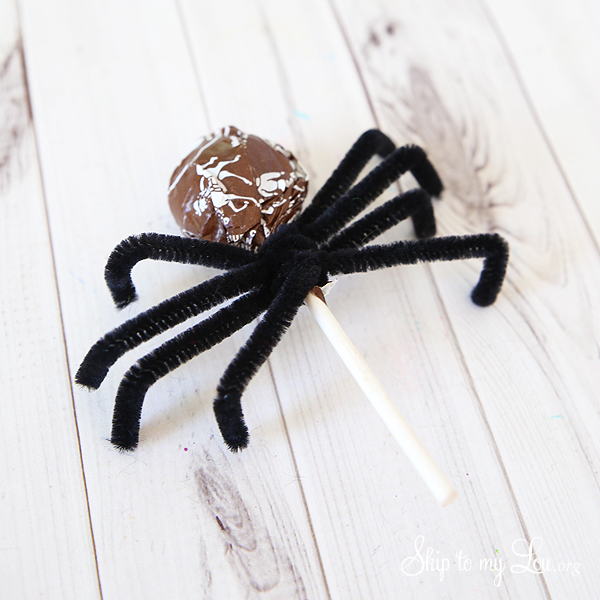 tootsie pop spiders step 2