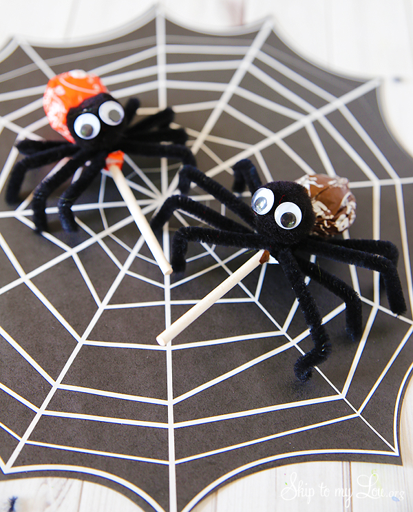 tootsie pop spiders