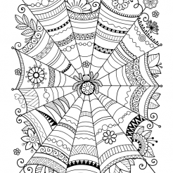 Cute Halloween Coloring Pages To Print And Color Skip To My Lou Spider Web Coloring Page