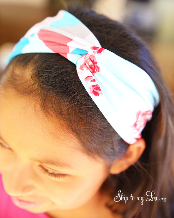 DIY looped headband
