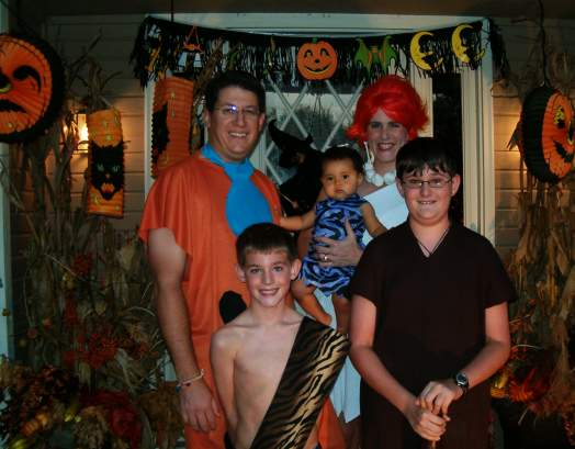 Group costume Flintstones