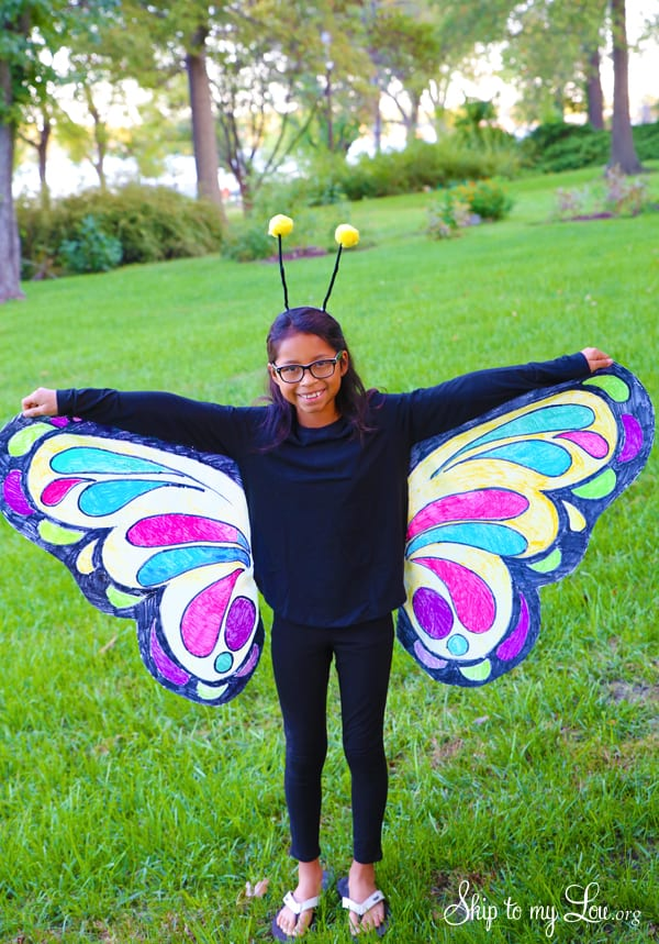 Beautiful Butterfly Costume Easy No Sew Idea Skip To