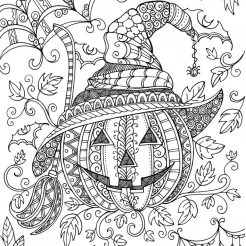 crazy - Cute Halloween Coloring Pages