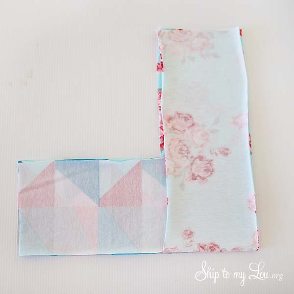 folding fabric looped headband tutorial