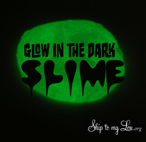 glow in the dark slime recipe
