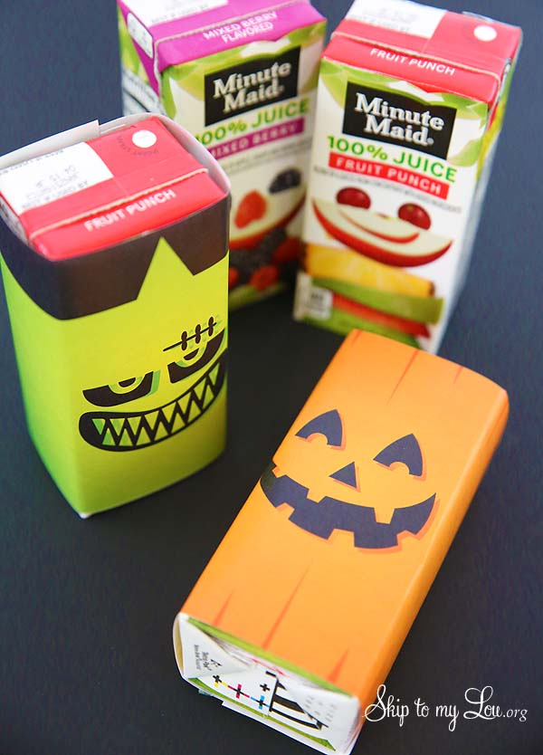 Classroom Ideas For Halloween Party ~ Printable halloween juice box covers skip to my lou