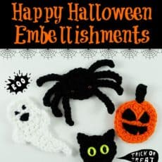 crochet halloween applique patterns
