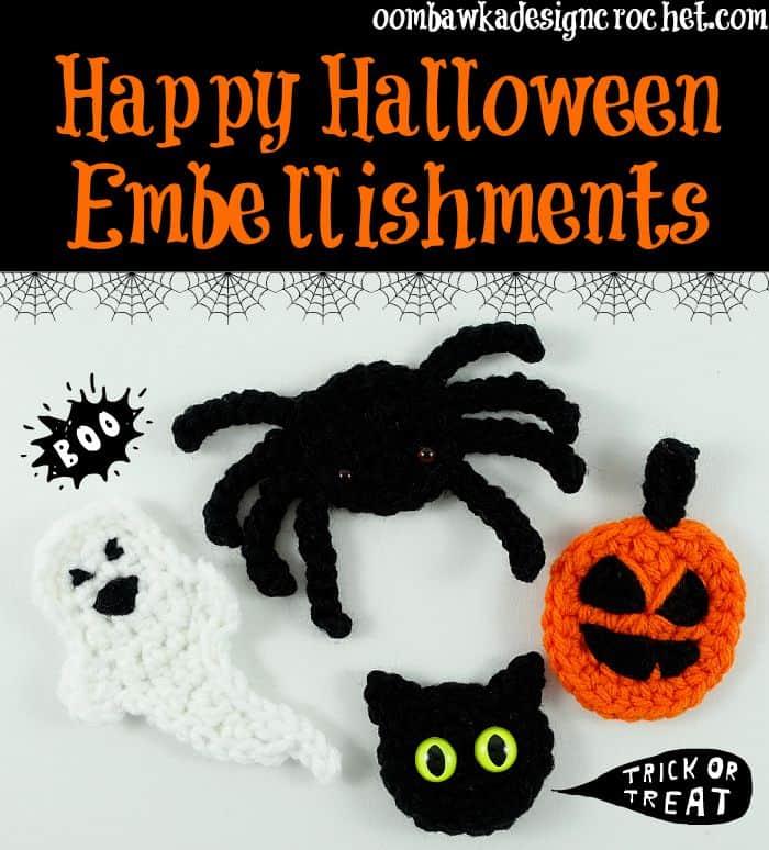 crochet halloween applique patterns