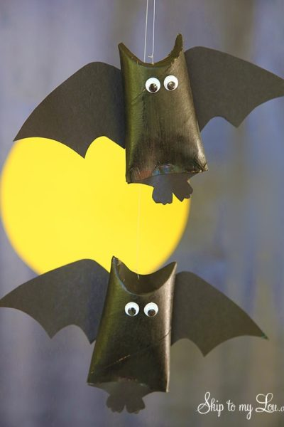 hanging bat halloween kids crafts