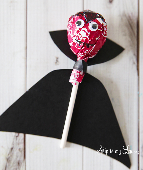 lolliopop dracula on white background