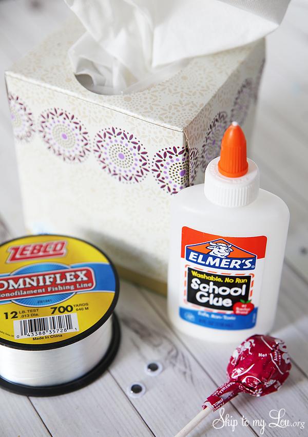tootsie pop ghost supplies