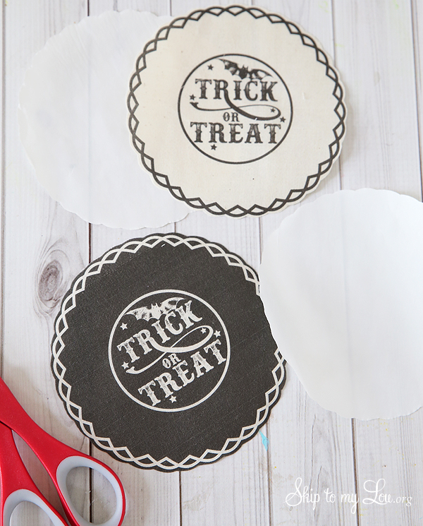 trick or treat jar covers print fabric