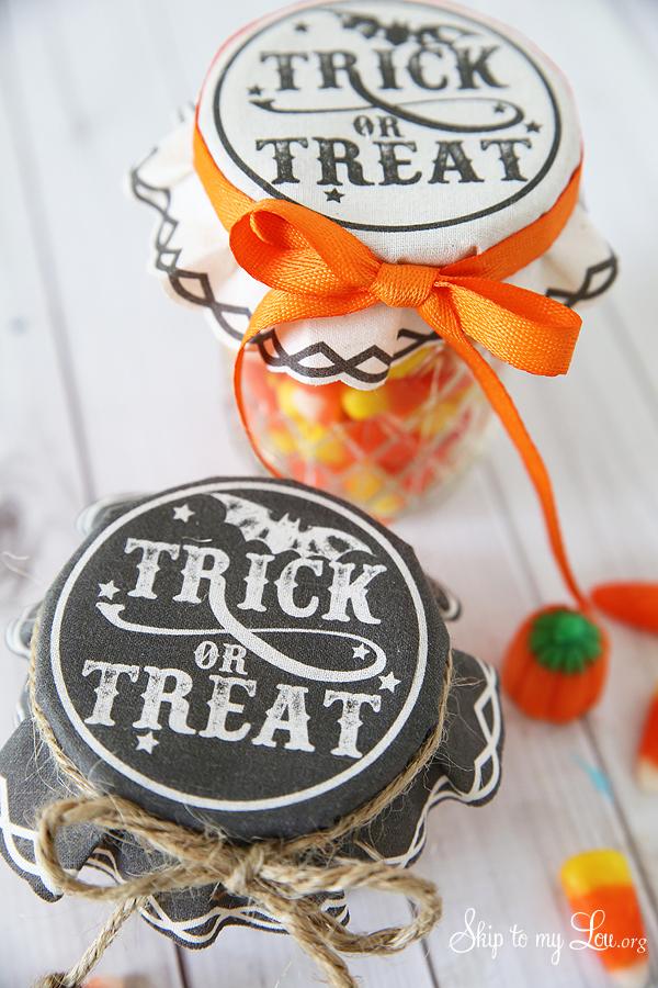 trick or treat printable jar covers