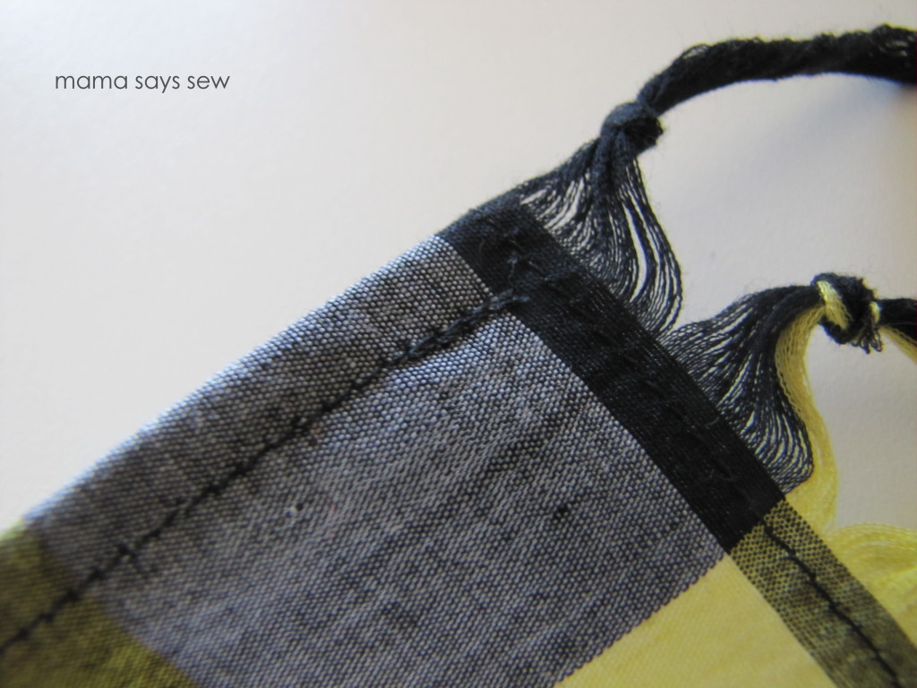 knotted frayed scarf