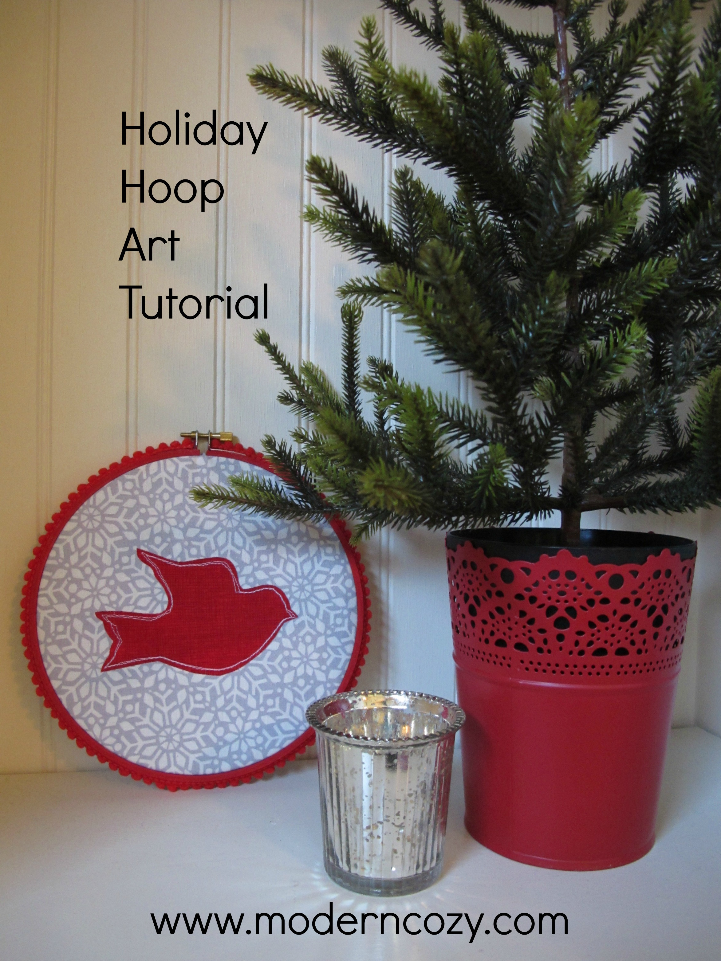 welcome to my post for the skip to my lou sew bake create decorate series i have an easy hoop art tutorial that you can easily make for the holidays and - Christmas Decorations To Make With Sewing Machine