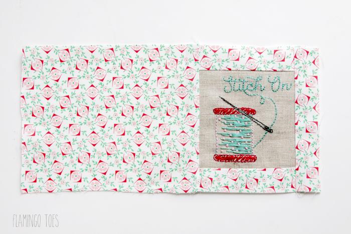 Stitching back of needle book