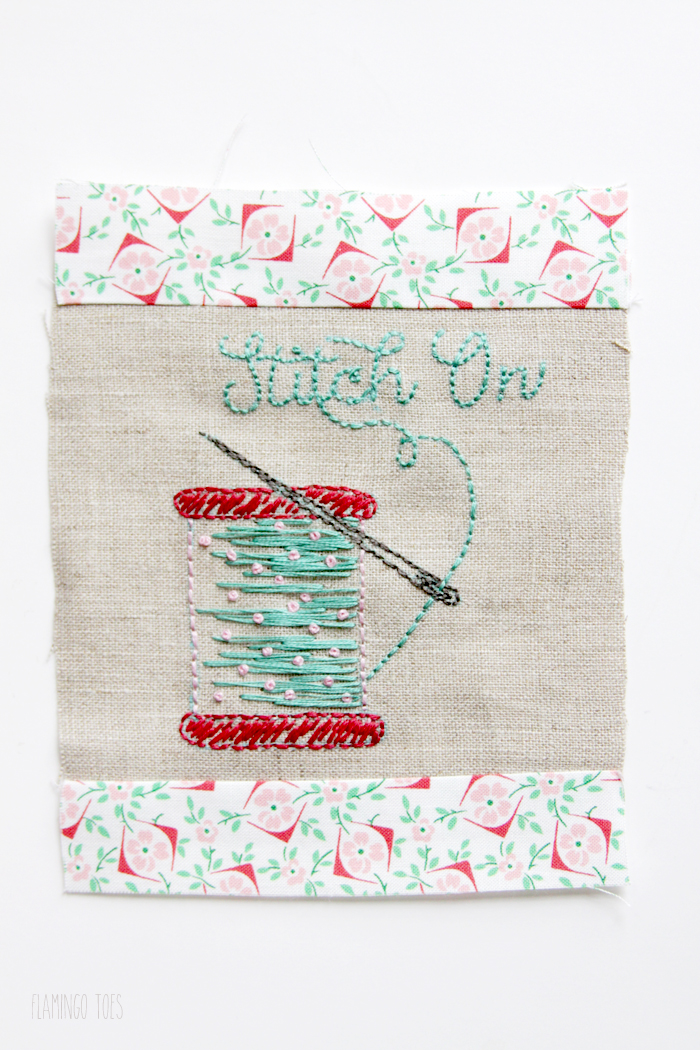 Stitching top and bottom border