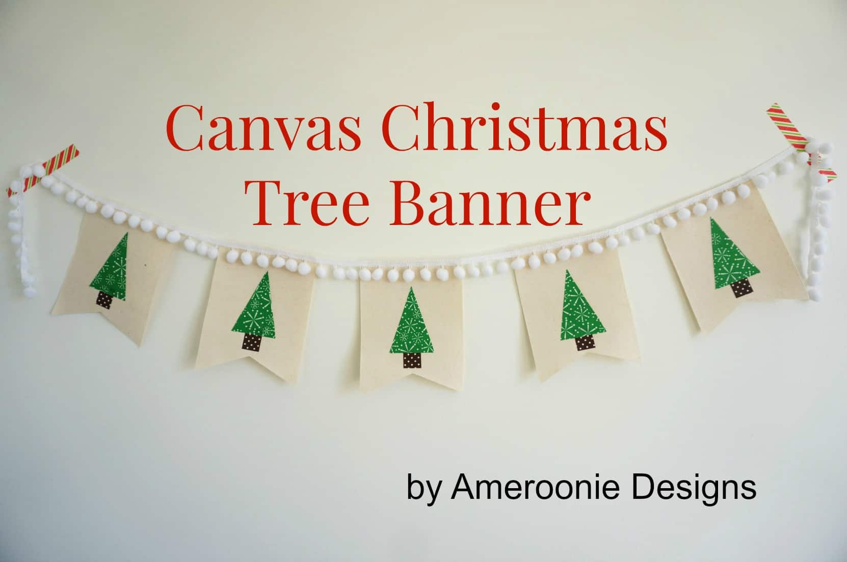 Canvas Christmas Tree Banner