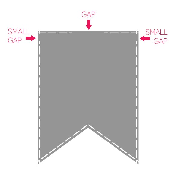 flag banner sewing instructions