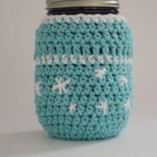 Frosty Snowflake Mason Jar Cozy - The Stitchin Mommy