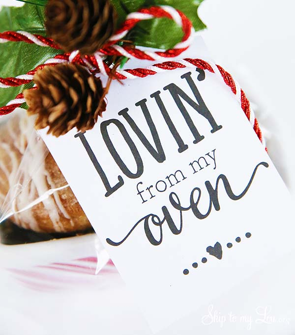printable lovin from my oven gift tag