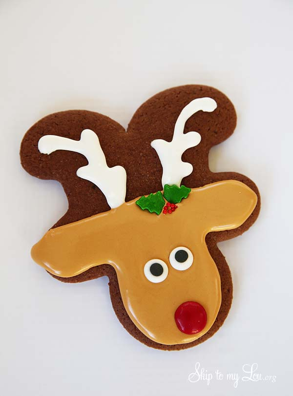 reindeer cookie from gingerbread man