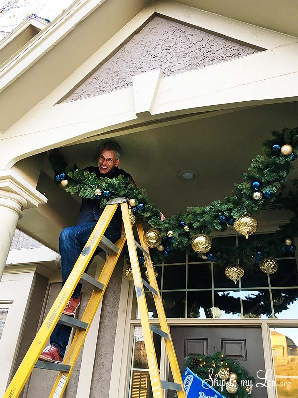 royals front porch hanging garland