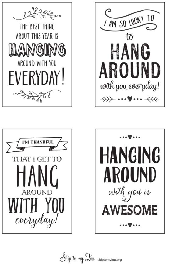 "Printable Gift Tag ""I'm so lucky to hang around with you"""