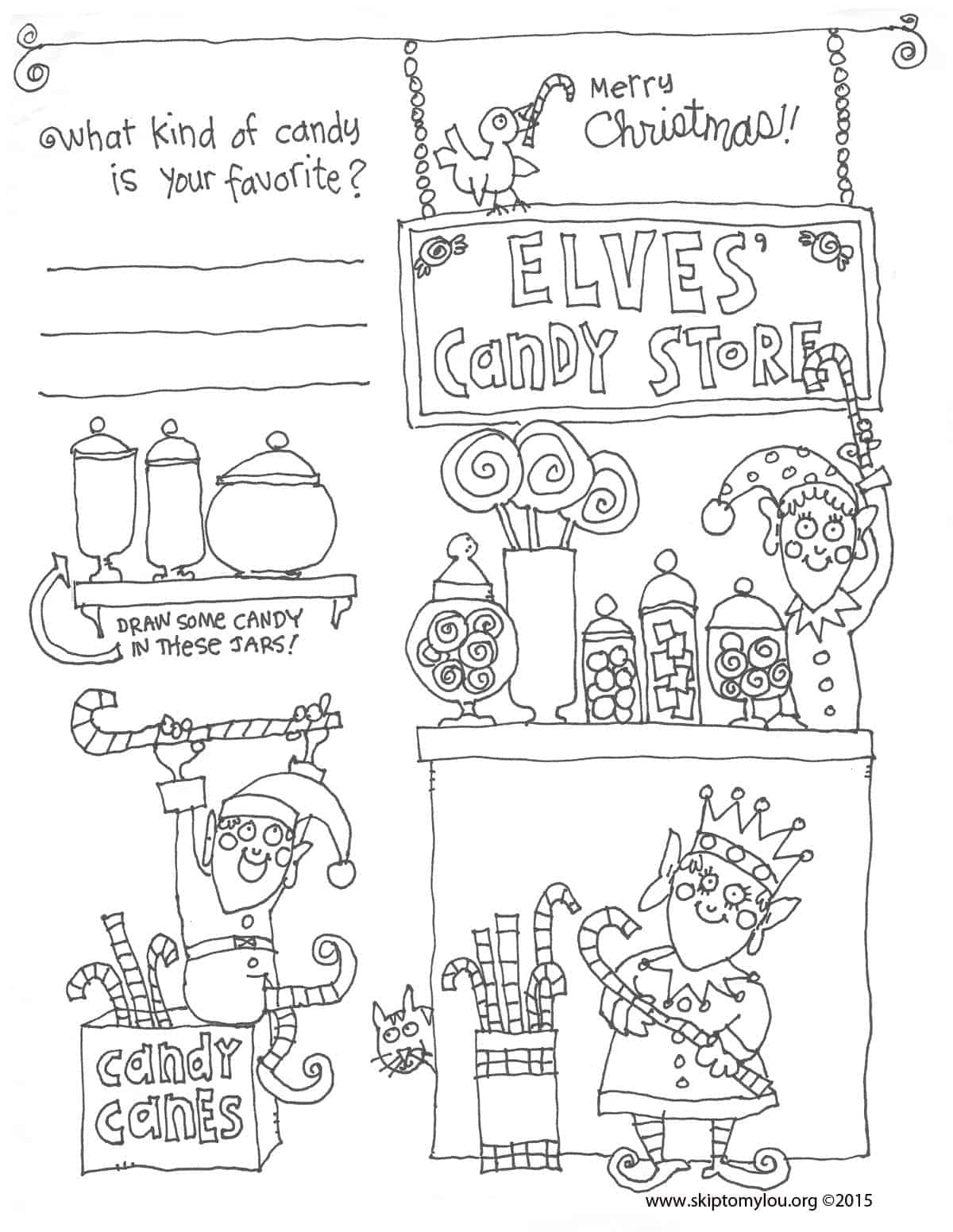christmas coloring sheet skip to my lou