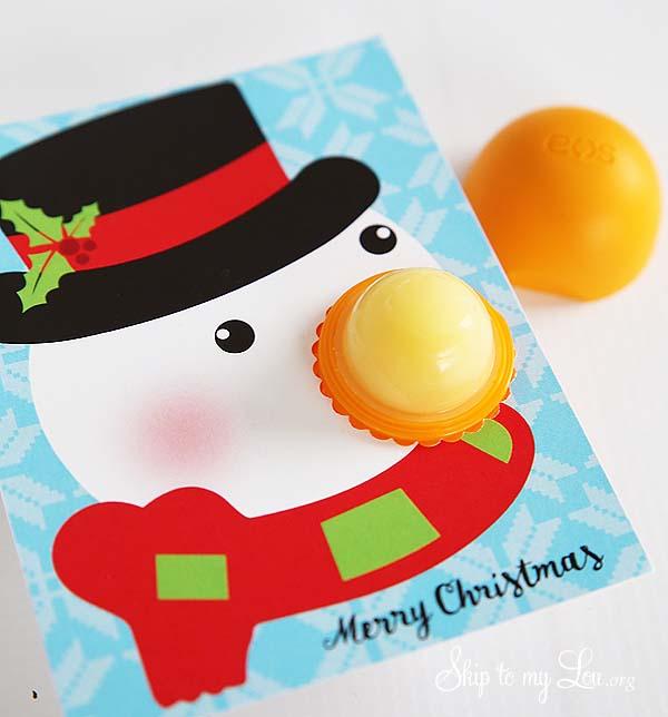 EOS Christmas gift snowman printable