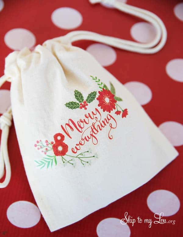 merry everything gift bag