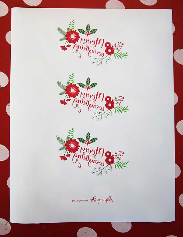 Merry Everything free printable