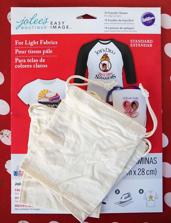 Printable Christmas Gift Bags Supplies