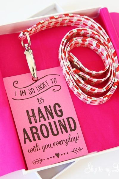 DIY lanyard teacher gift