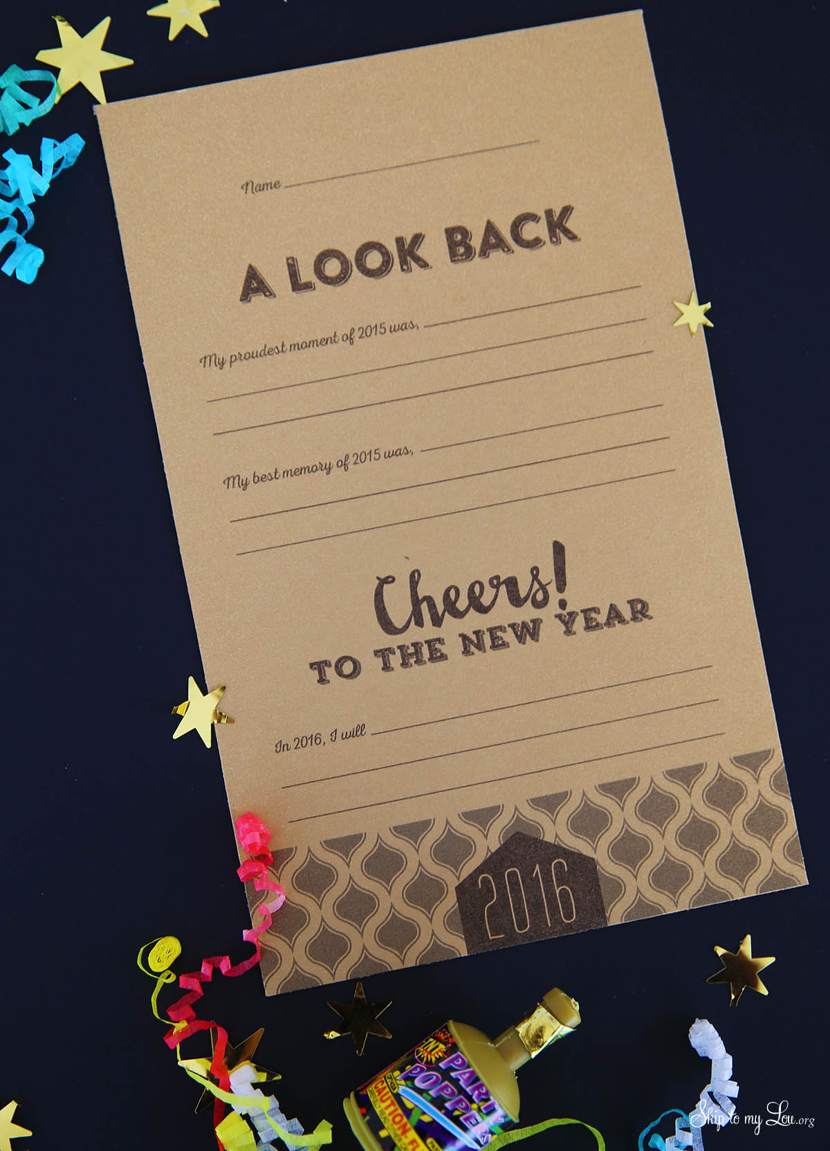 new years eve printable cards