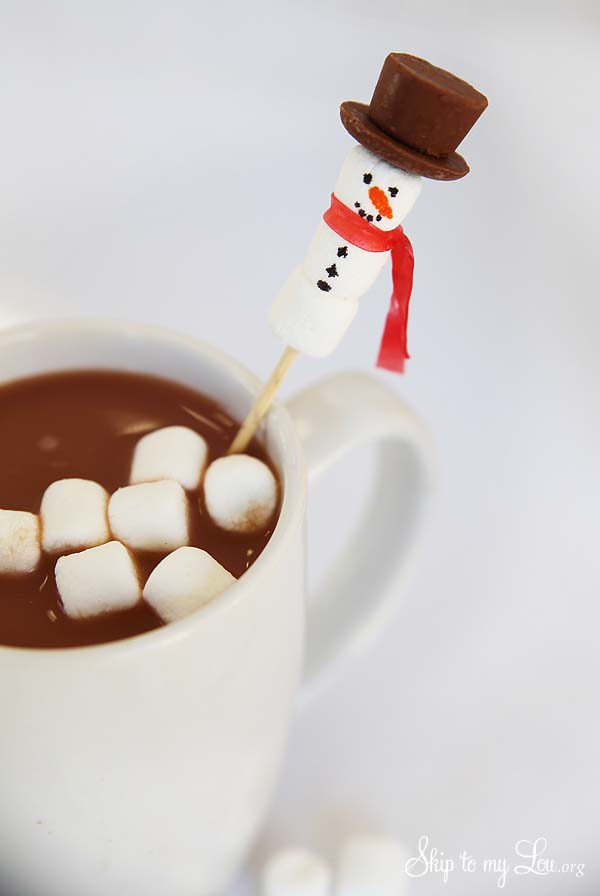 Snowman Stirrers For Fun Hot Chocolate Skip To My Lou