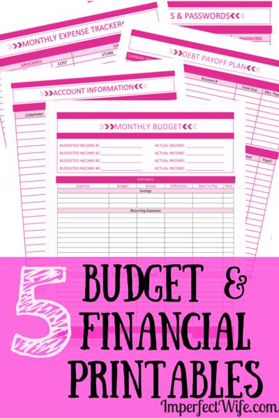 Budget-Financial-Printables