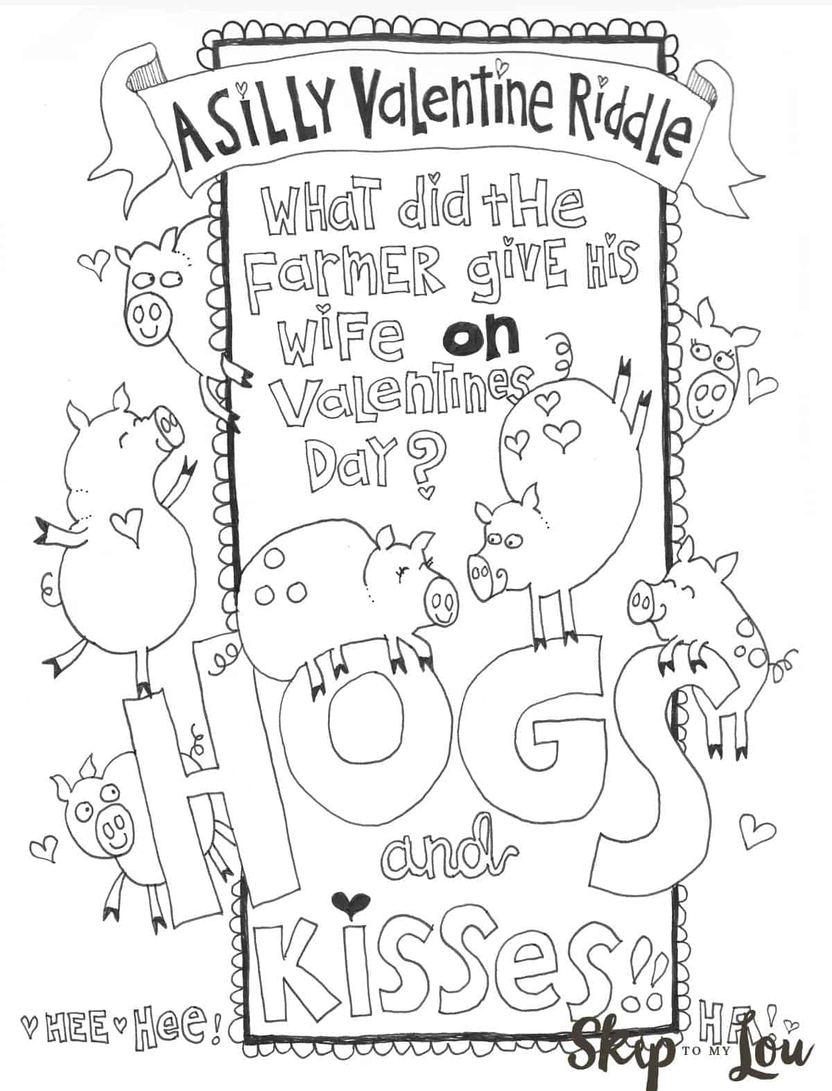 Skip To My Lou Teacher Coloring Page