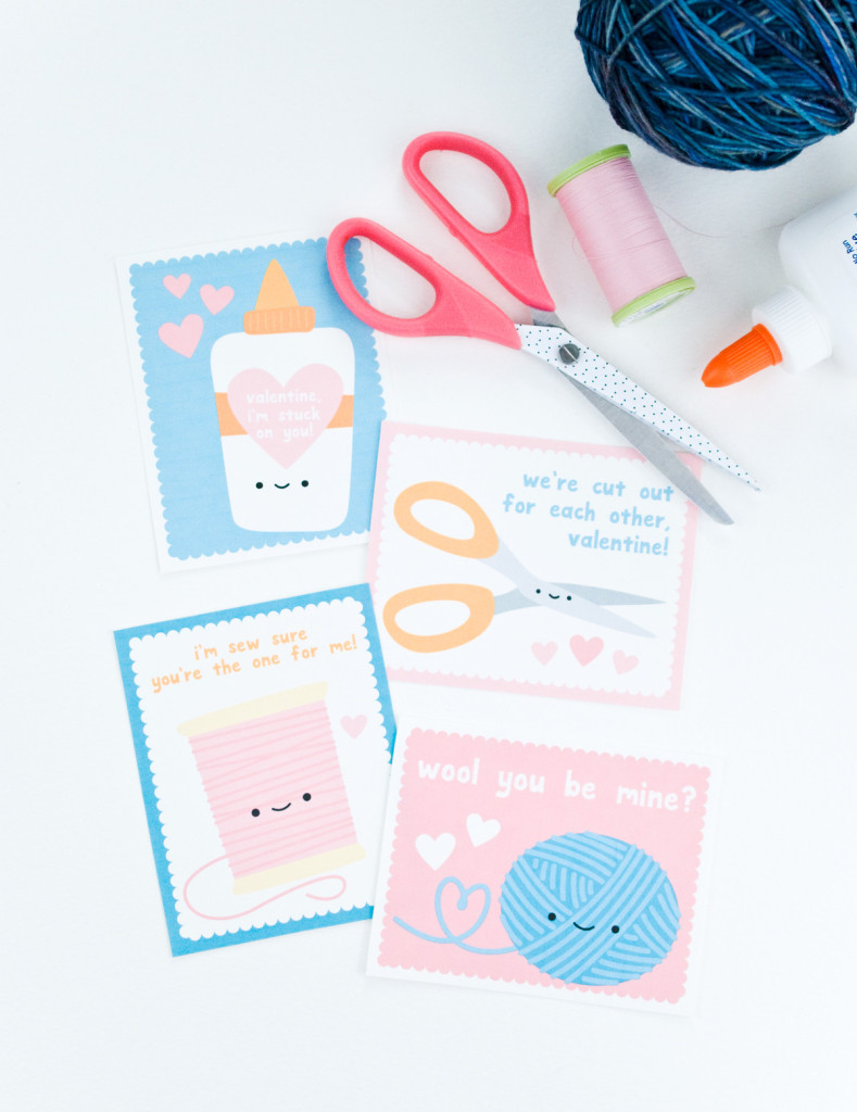 Printable Craft Themed Valentines