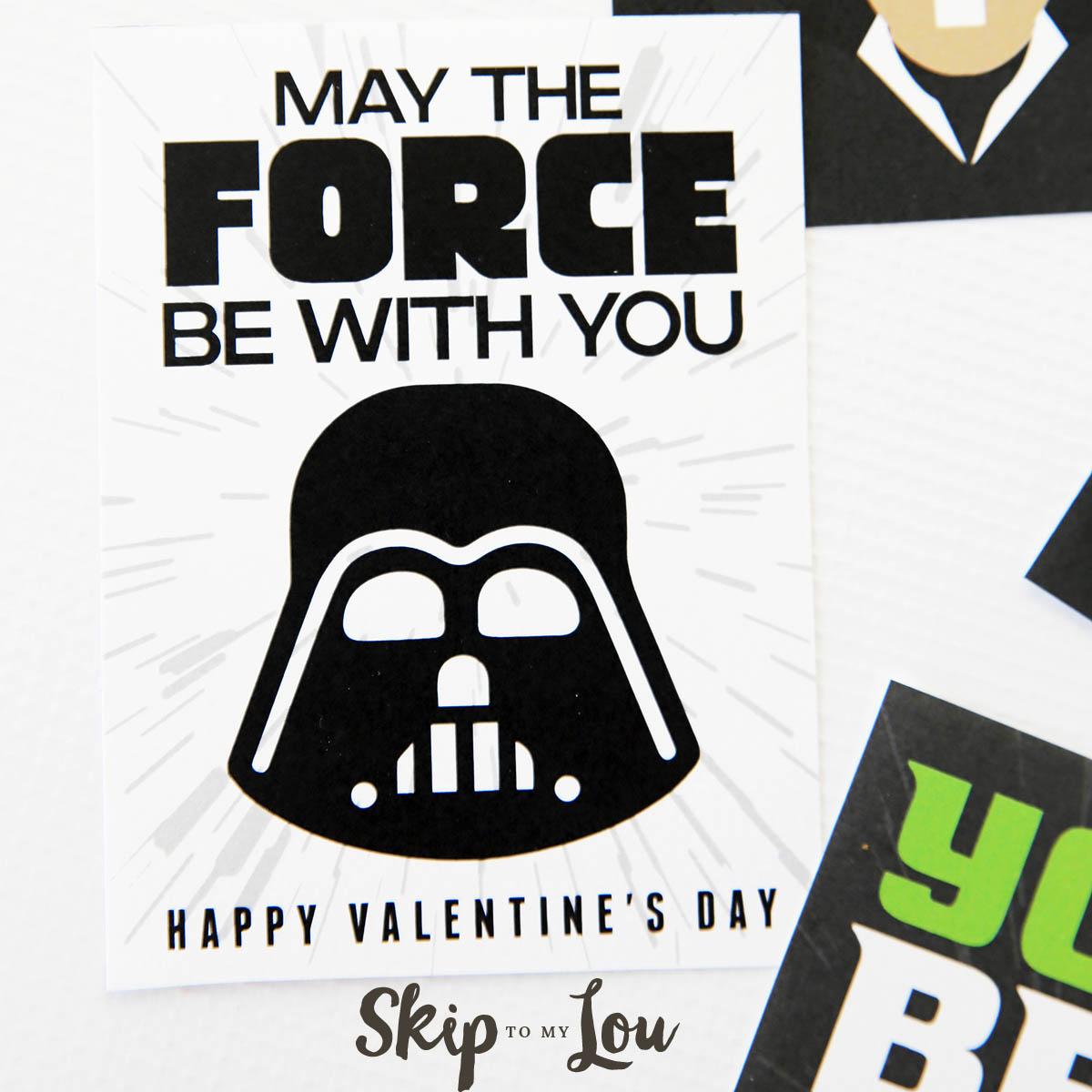 The BEST free printable Star Wars Valentines - so cool! | Skip To My Lou