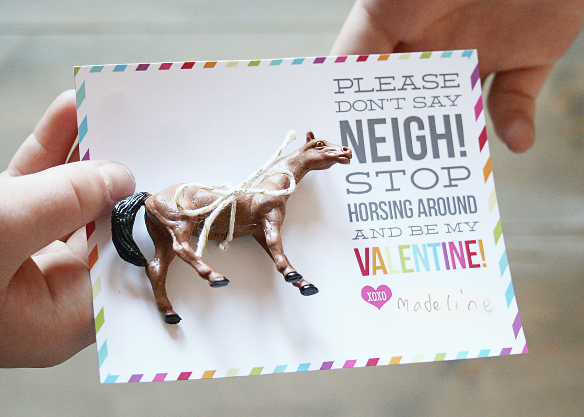 don u0026 39 t say neigh horse valentines