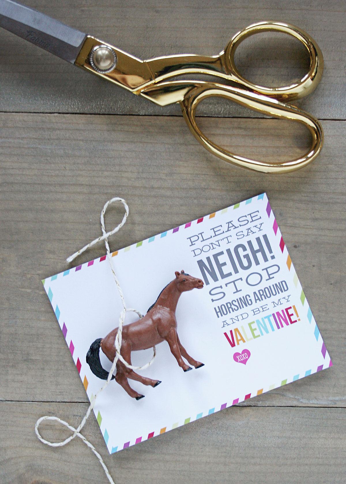 Horse Valentines | Free Printable