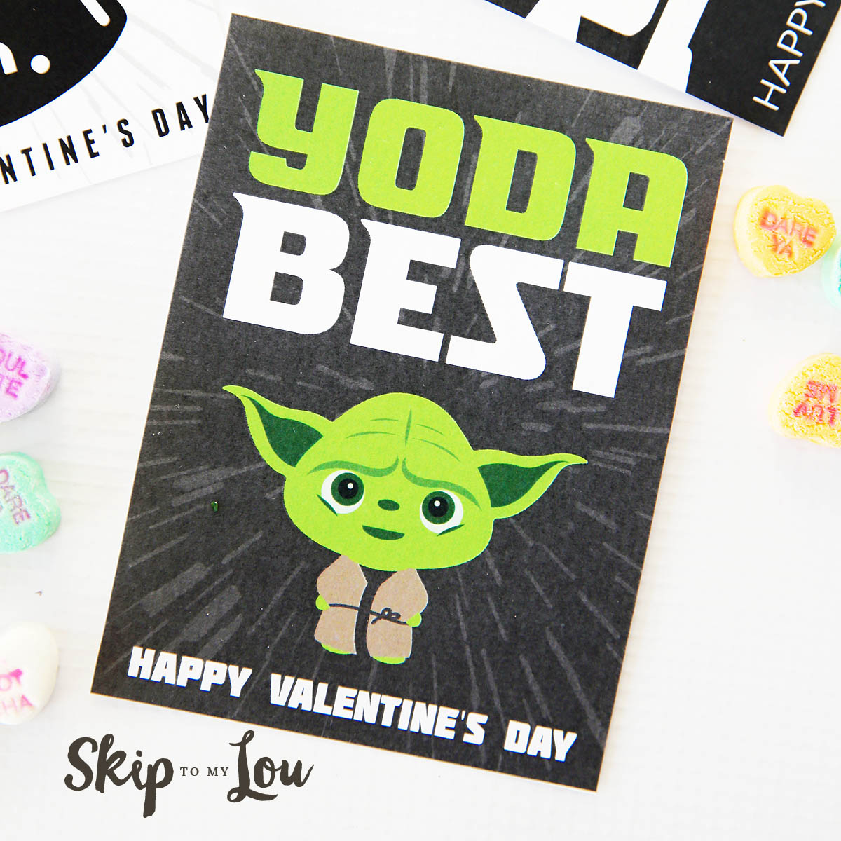 Witty image with regard to printable star wars valentine