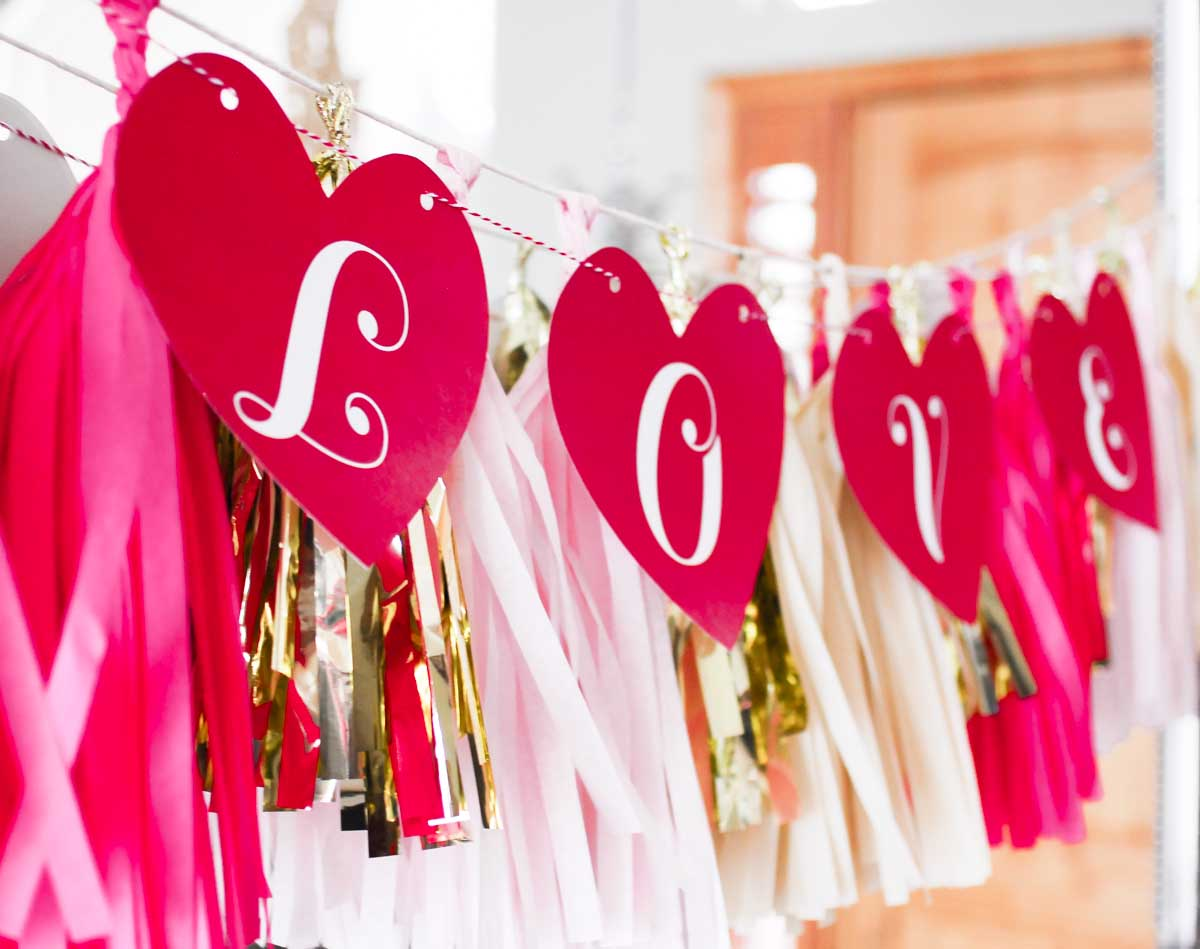 Easily create a cute Valentine's Day LOVE banner