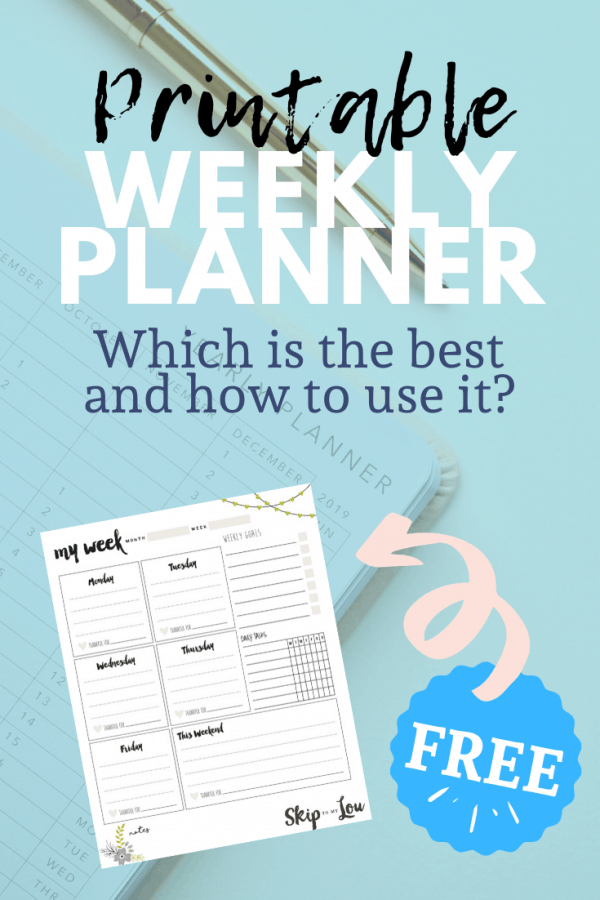 weekly planner pin