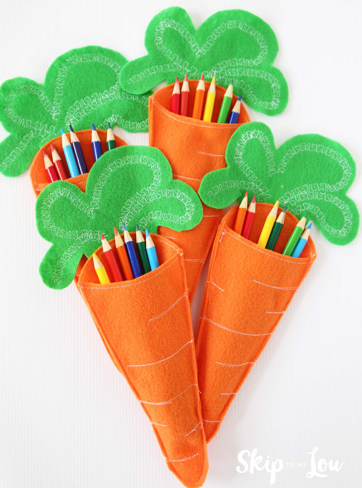 felt crafts ideas felt carrot pencil holders skip to my lou 2003