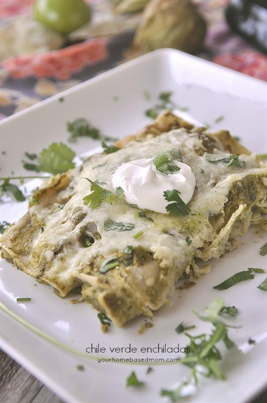 Chile Verde Enchiladas