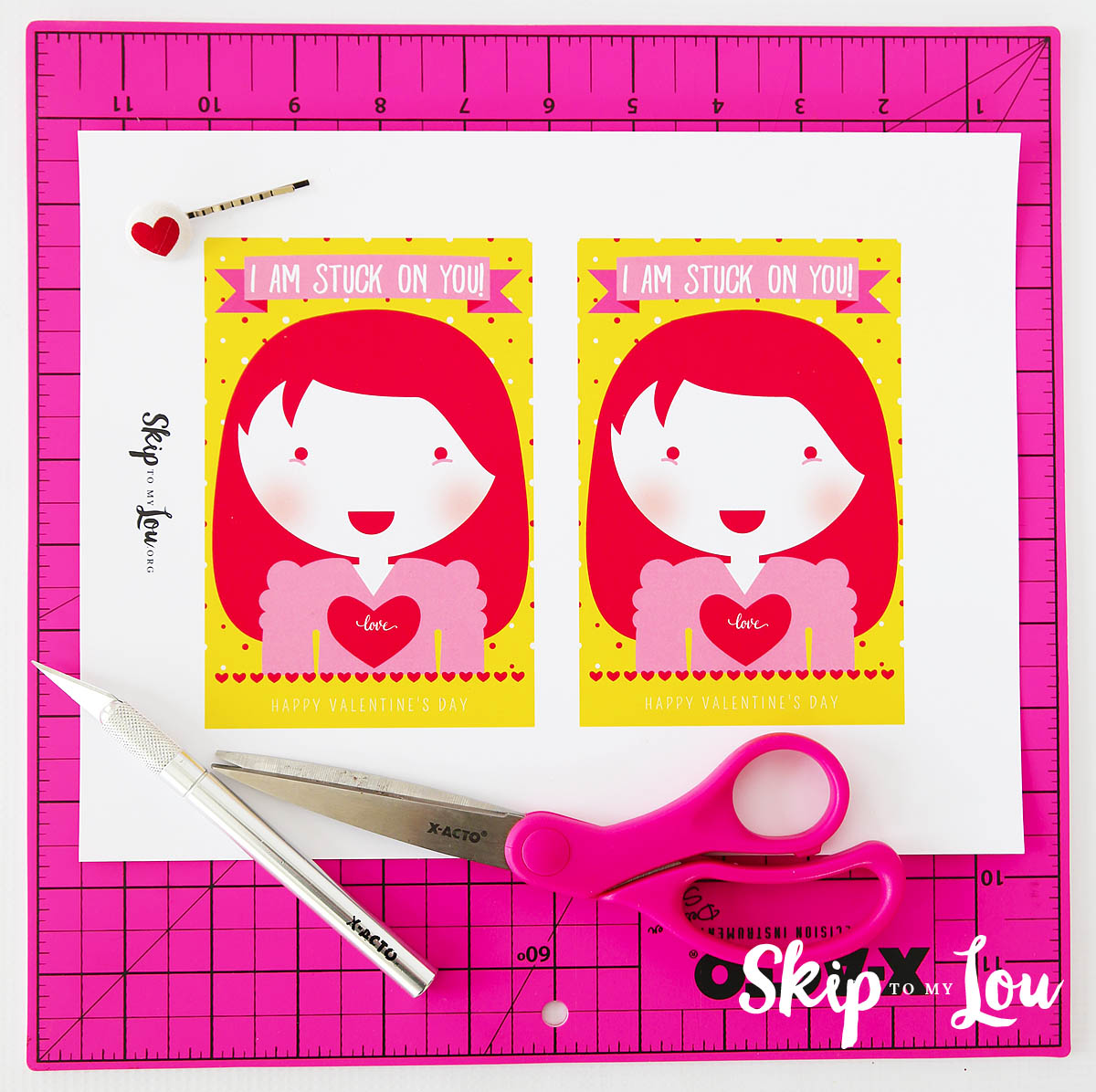Stuck on you Valentine supplies