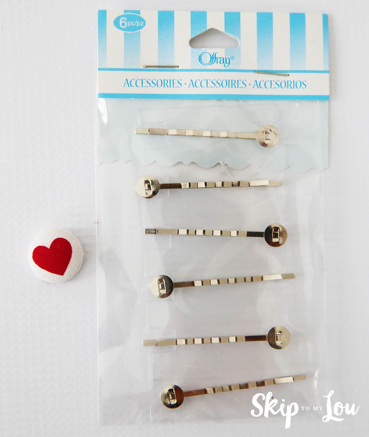 covered button hair clip tutorial
