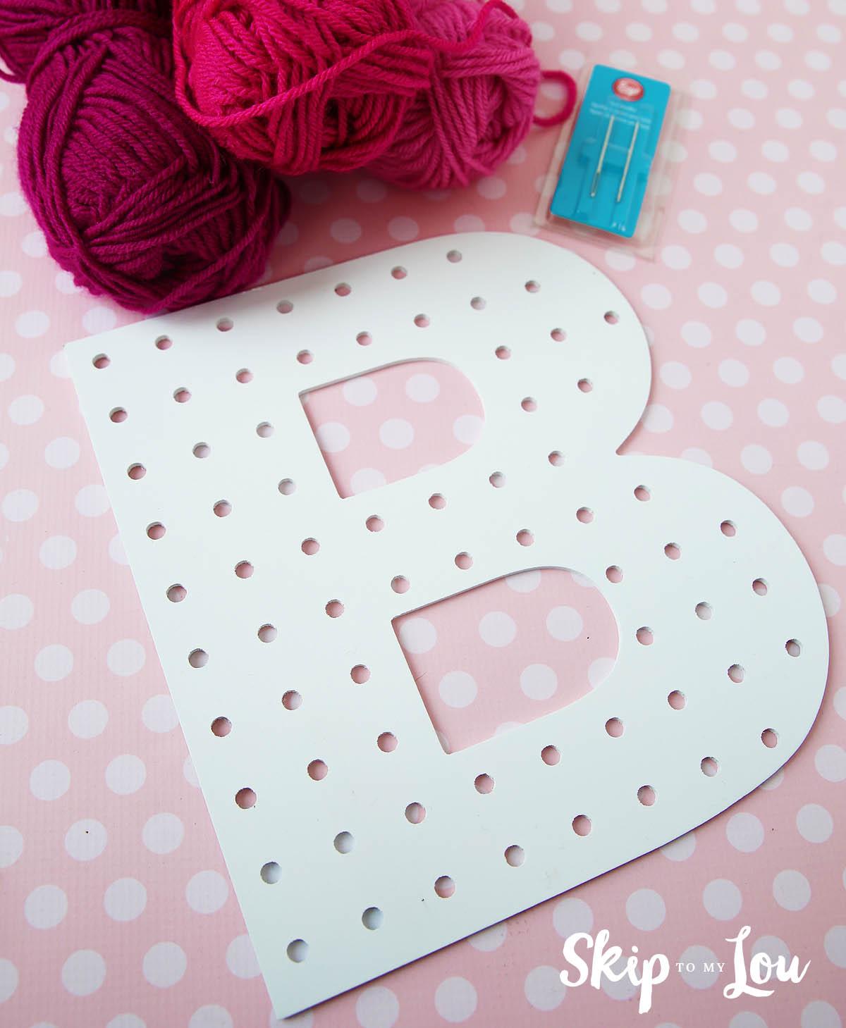 cross stitch letter supplies
